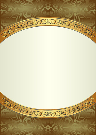 golden frame: antique background with golden frame
