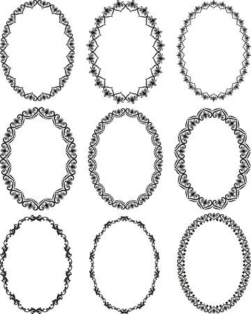 ovalo: un conjunto de marcos decorativos