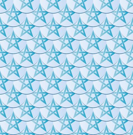 ishtar: seamless pattern with shape of pentagram