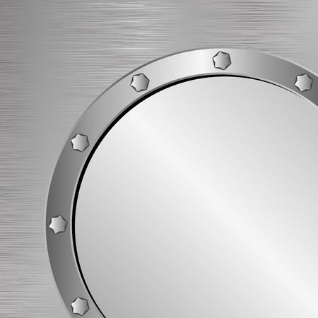 metallic texture: steel texture with metallic banner