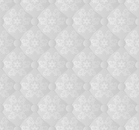 vintage wave: seamless pattern with floral ornament
