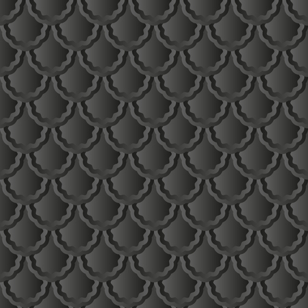 decor graphic: black background, seamless pattern