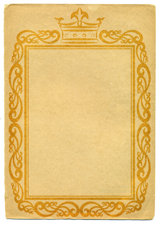 kingly: old paper with royal frame