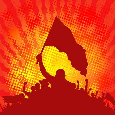 demonstrators: background with demonstrators