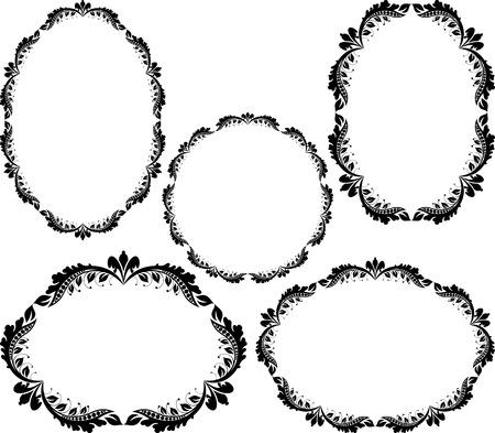 un ensemble de cadres floraux - éléments de conception