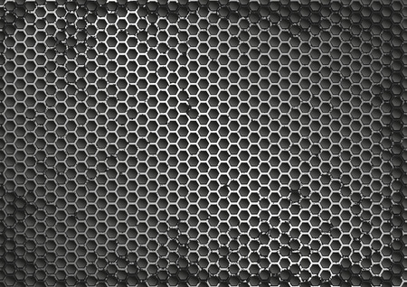 grate: grunge background with grate