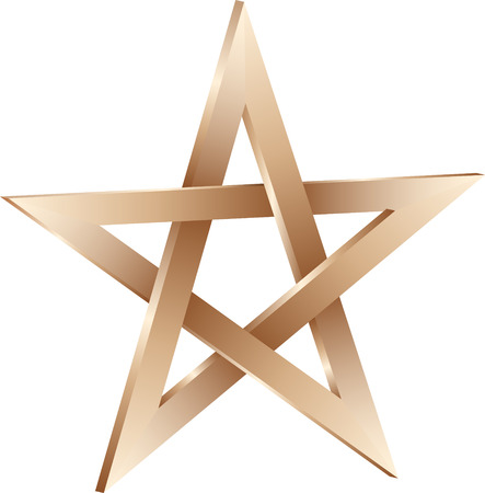 arts symbols: isolated 3D pentagram sign