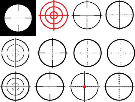 marksman: set of isolated crosshairs
