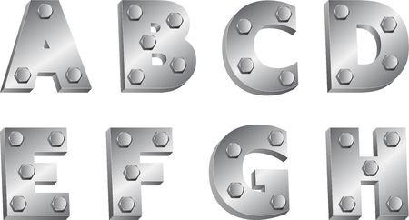 metallic: metallic font Illustration