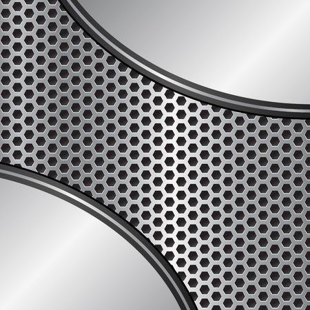 metallic texture: Metallic background and metal grate texture Illustration
