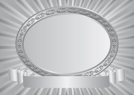 silver frame: silver background with decorative frame