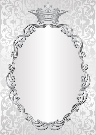 silver frame: silver background with royal frame