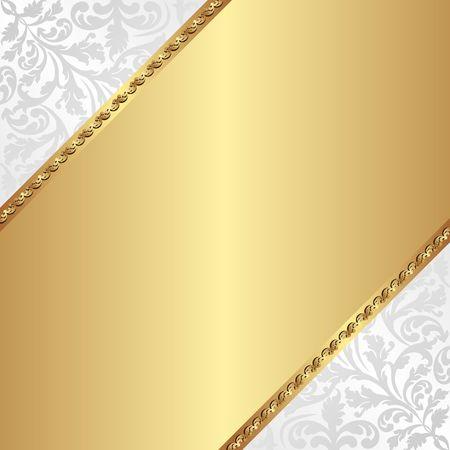 Fond doré avec motif décoratif Banque d'images - 72943553