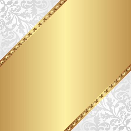 golden background with decorative pattern