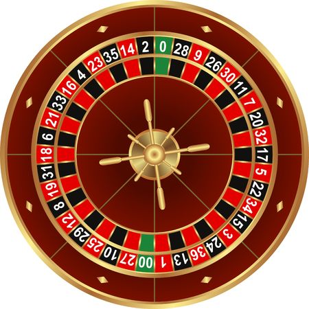 isolated wheel of american roulette