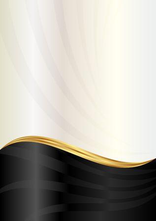 golden light: black and pearl background Illustration