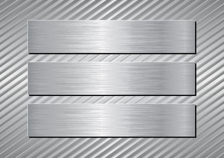 Tres placas de plata