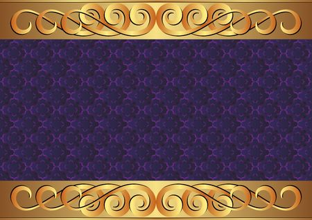 decorative patterns: decorative background with old-fashioned patterns and golden ornament Illustration