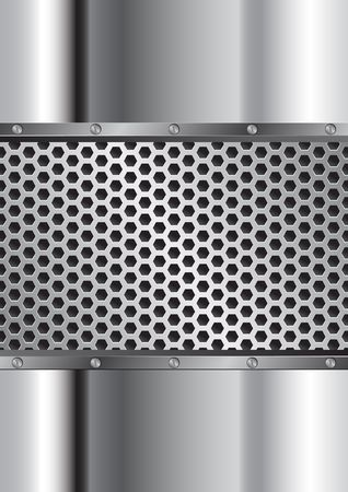 grille: Metal background with grate and bolts