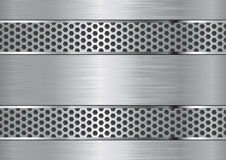 brushed: Aluminum background with grate chrome edges.