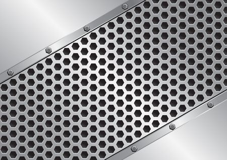 metal background with grate