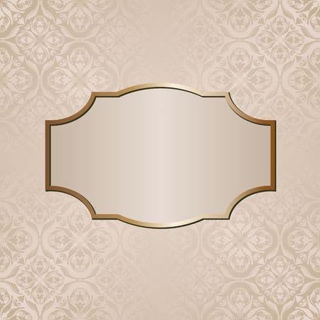 fresco: decorative background with vintage pattern and elegant frame