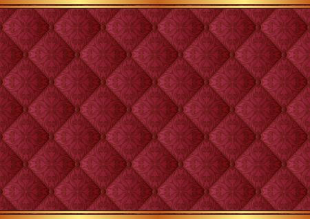 buttoned: ornate background with baroque pattern