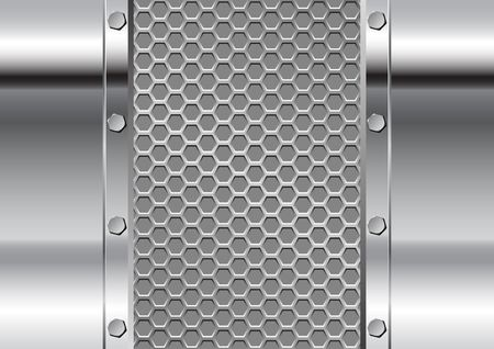 grille: metal background and grate