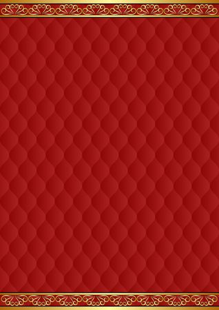 maroon background with decorative pattern and golden ornaments