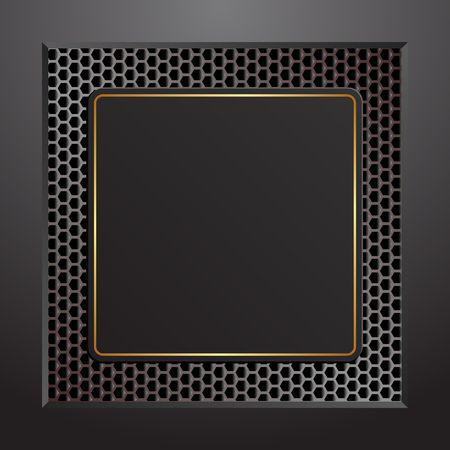 Black plaque with golden frame 向量圖像