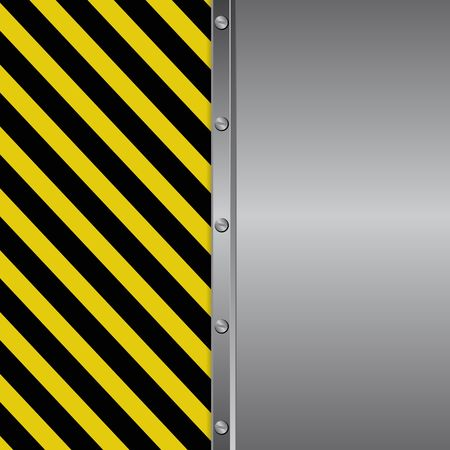 danger sign and metal background