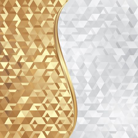golden and white abstract background with geometric texture Zdjęcie Seryjne - 81130781