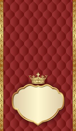 antique background with royal frame Çizim