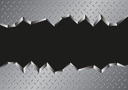 ギザギザの金属背景ベクトル図です。  イラスト・ベクター素材