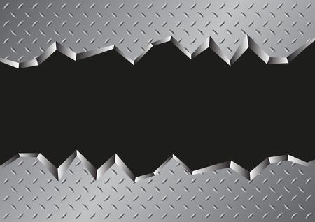 jagged metal background Vector illustration.