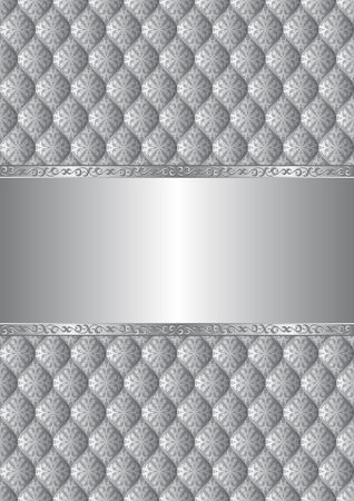 silver background with antique pattern