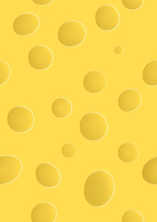 yellow cheese with holes, seamless pattern 向量圖像