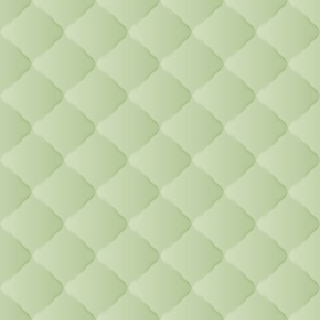 Green vintage quilted seamless pattern background with ornament.