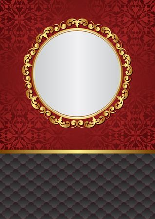 Decorative background with old-fashioned patterns and elegant frame.