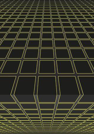 パースイラストレーションの幾何学的形状を持つ背景。  イラスト・ベクター素材
