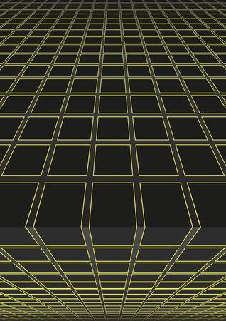 Background with geometrical shapes in perspective illustration. Illustration