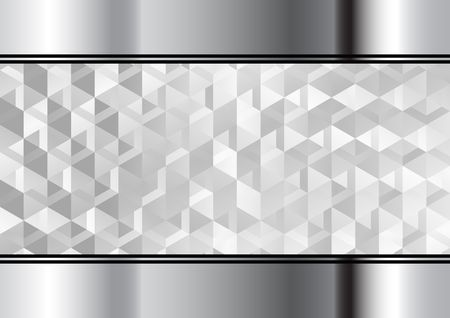 chromed metallic background and abstract geometric texture