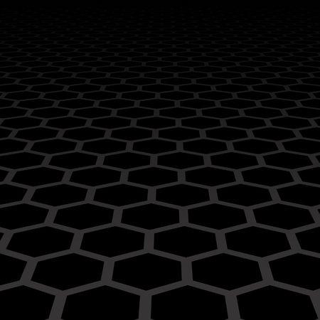 black background with hexagonal shapes  Illustration