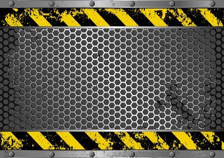grunge achtergrond met gevaarteken Vector Illustratie