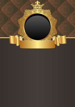 kingly background with decorative frame