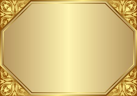 golden background with decorative corners