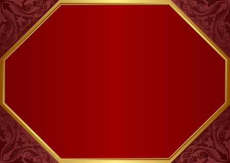 vintage background with ornament and frame