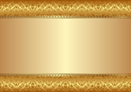 golden background with old-fashioned patterns