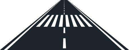 strisce pedonali e stradali Vettoriali