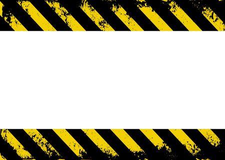rayures jaunes et noires avec insert d'espace transparent